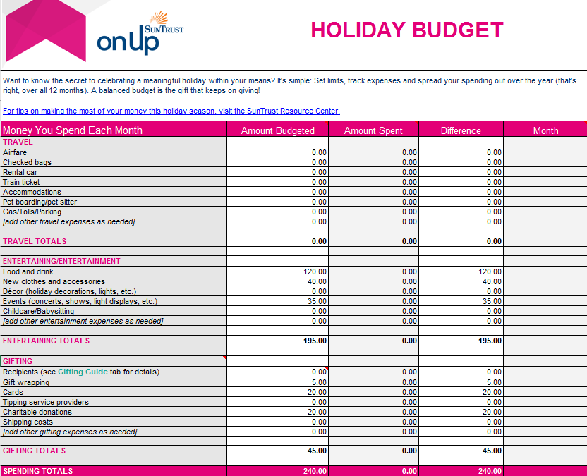 holiday-budget