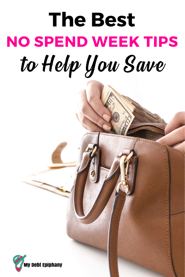 Best No Spend Week Tips to Help You Save my debt epiphany