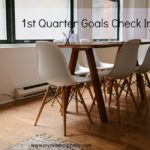 First Quarter Goals Check In For 2015