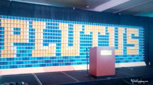The 6th Annual Plutus Awards stage setup.