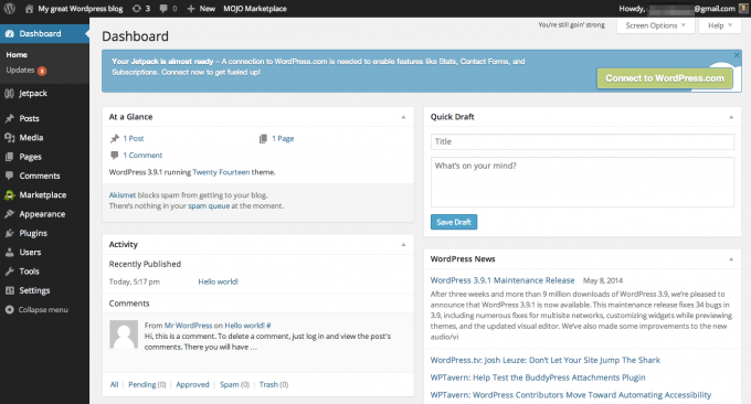 bluehost-wordpress-dashboard