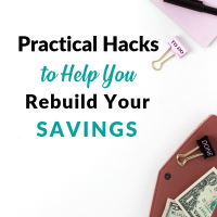 Practical Hacks to Help You Rebuild Your Sinking Funds my debt epiphany