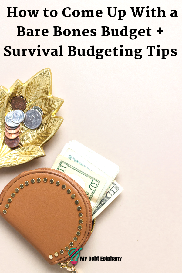 how to come up with a bare bones budget